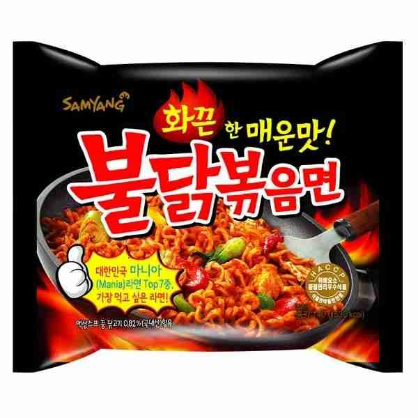 "Ugniniai makaronai ""Hot Chicken Flavor Ramen"""