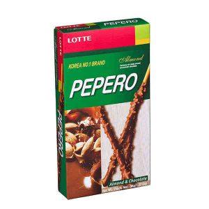 """Migdolų šokolade padengtos biskvitinės lazdeles – """"Pepero Almond"""""""
