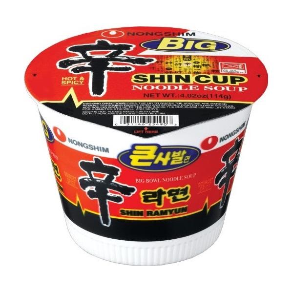 "Aštri makaronų sriuba – ""Shin Ramyun"" (big cup)"