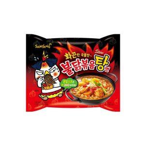 "Aštri makaronų sriuba – ""Hot Chicken Flavor Ramen"" (Stew)"