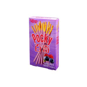"""Miško uogų skonio biskvitinės lazdelės – """"Pocky Double Berry"""""""